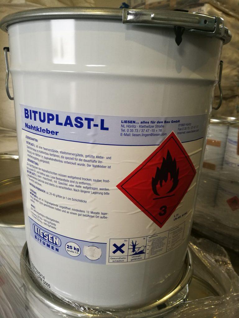 """Šalto naudojimo asfalto siūlių klijai """"Bituplast-L"""" kibiras po 25 kg"""